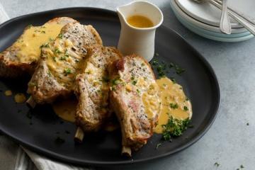 Pork Loin Chops in Dijon Sauce