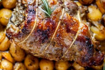 Roasted Lamb Shoulder & Potatoes