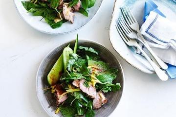 Thai Green Pork Salad with Green Mango